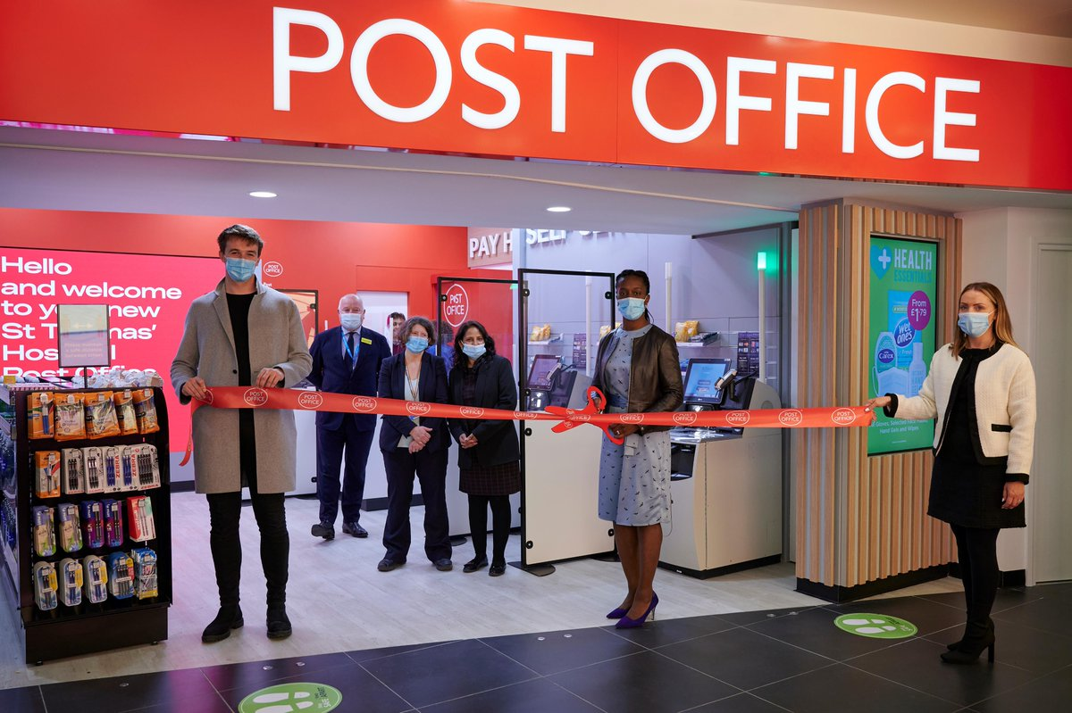 We have exciting news! 🎉 From today, patients, staff and visitors in @GSTTnhs now have access Post Office services. Thanks to local MP @FloEshalomi for opening the branch. #nhs https://t.co/aIsNtmKIBo