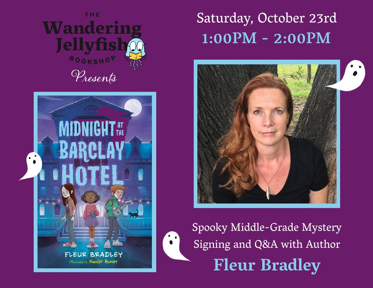 Colorado friends: Join me Oct. 23rd @TWJBookshop in Niwot, CO..! I'll be signing Midnight at the Barclay Hotel, and there will be fun, kid-friendly activities to get you in the #spooky mindset. See you there! twjbookshop.com/events/spooky-… #mglit #spooktober #Colorado #Boulder #books