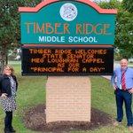 Image for the Tweet beginning: .@timberridge202 welcomed @SenatorMeg49 as Principal