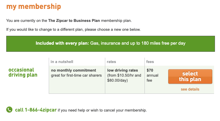 Come on, @Zipcar!! I have to call to cancel? Did I have to call to sign-up? Stop with the anti-consumer anti-patterns!