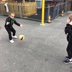 Image for the Tweet beginning: In PE we practised throwing