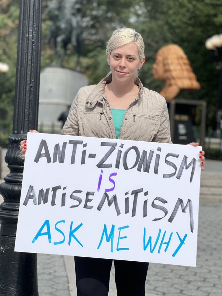 Today I was proud to stand in #NYC as an Israeli and speak to the public about how anti-Zionism is #antisemitism. Fact: 95% of Jews are Zionists. Only by truly calling out modern antisemitism can we begin to combat it. #zionism #israel #stopantisemitism