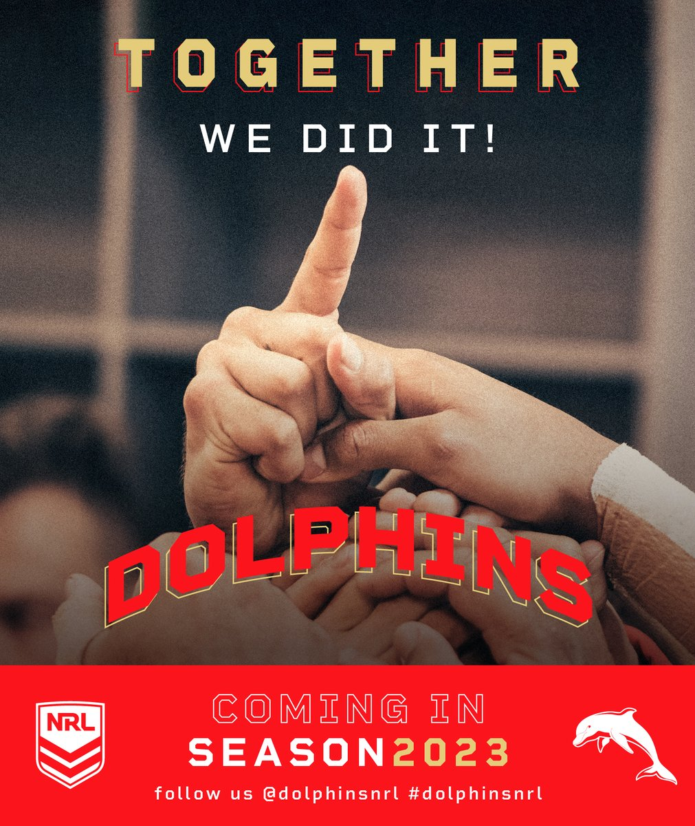 This is the first time that the @NRL has announced a new team for their competition since 2005. The @GCTitans joined the comp in 2007. This is excellent news for @DolphinsRLFC - a powerhouse rugby league club.