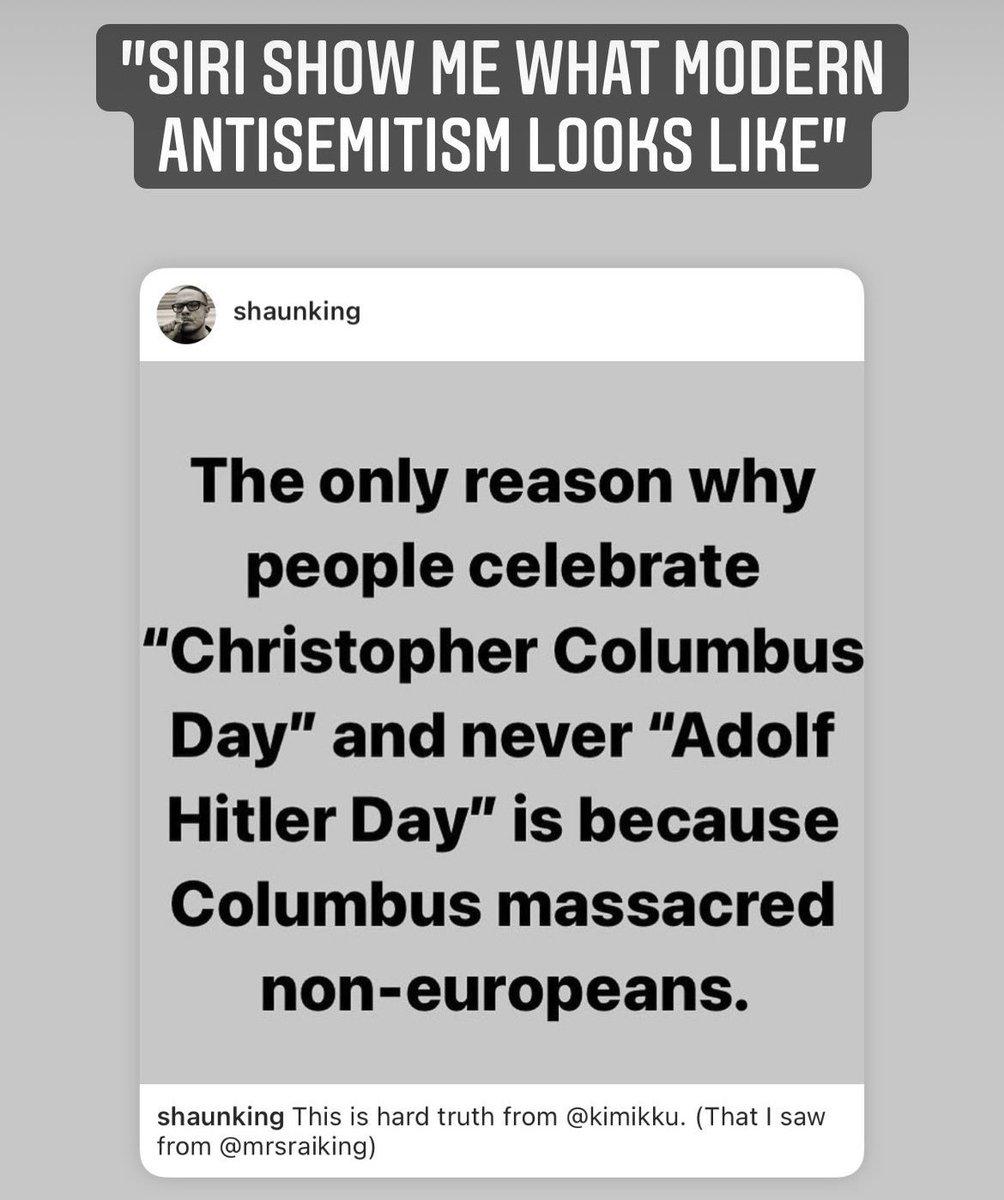 "Just Shaun King spreading antisemitic garbage again. ""Siri, show me what modern #antisemitism looks like"" ⬇️"