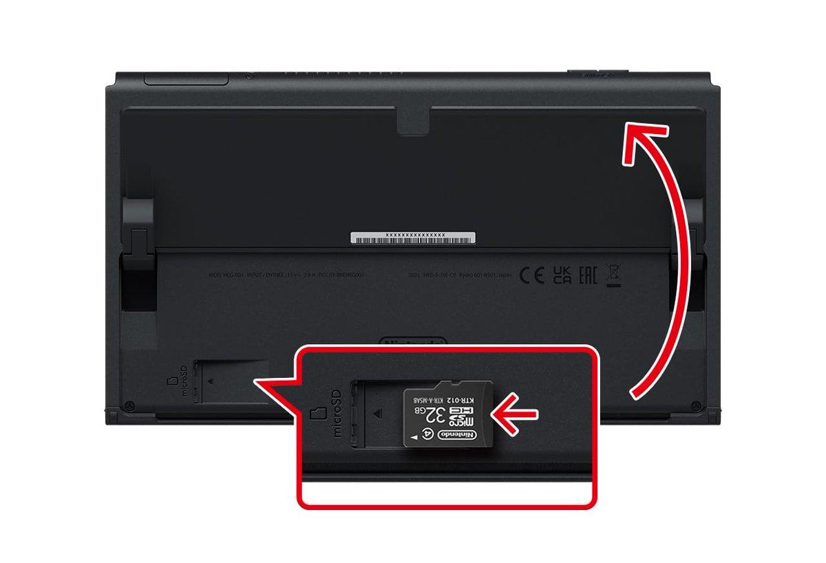 test ツイッターメディア - Nintendo Switch(有機ELモデル)のmicroSDカードスロットは、本体背面の左下にあります(テーブルモード用のスタンドの下に隠れています)。 https://t.co/OiBkWZzfSj