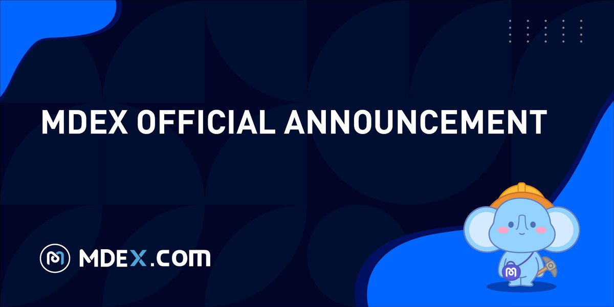 📢Announcement on new liquidity mining activity on MDEX.COM (HECO) ✅We are adding 2 new liquidity mining pairs: 1) BETH/ETH 2) XMDX/MDX under the condition that the total mining reward per block remains unchanged. 📆at 8:30 (UTC) on Oct 13, 2021