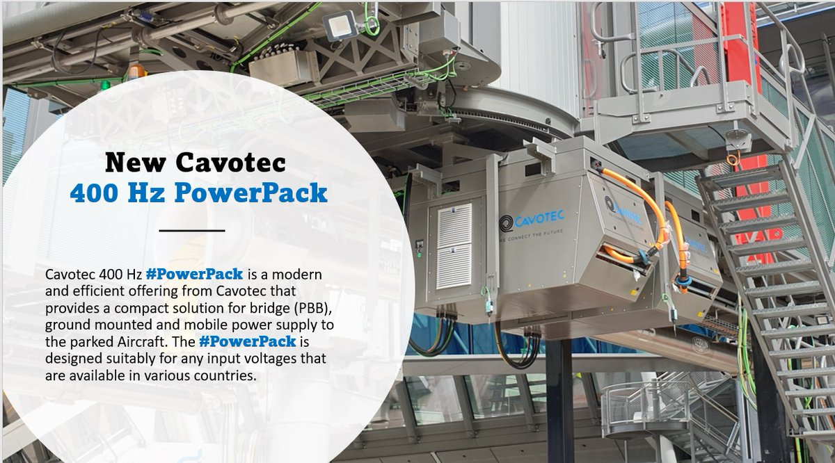 Our #400Hz PowerPack supplies electrical power to parked #aircraft via passenger boarding bridges, and ground-mounted and mobile applications. Learn more about our 400Hz systems here: https://t.co/duDNxyNH0l  #electrification #charging #chargingstations #airportoperations https://t.co/9FWDUWuYr0