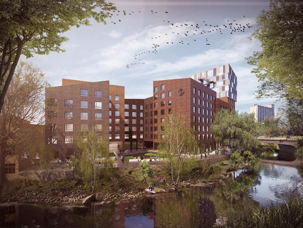 Vi planlegger 200 nye studentboliger i Brenneriveien, med mål om den første helt utslippsfrie byggeplassen for studentboliger i Oslo, og så langt vi vet også i Norge. Tusen takk til @EnovaSF for støtte til prosjektet.   https://t.co/DRwksOLpU1 https://t.co/5RAiepgw1x