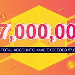 Image for the Tweet beginning: 🎉🎉🎉Congratulations on #TRON total accounts
