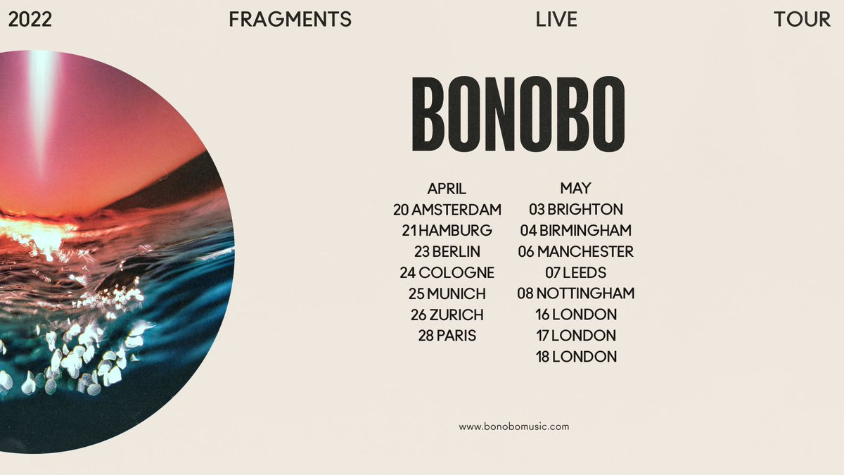 The UK/EU presale starts today. If you've pre-ordered the new album, Fragments, your presale link is in your inbox.