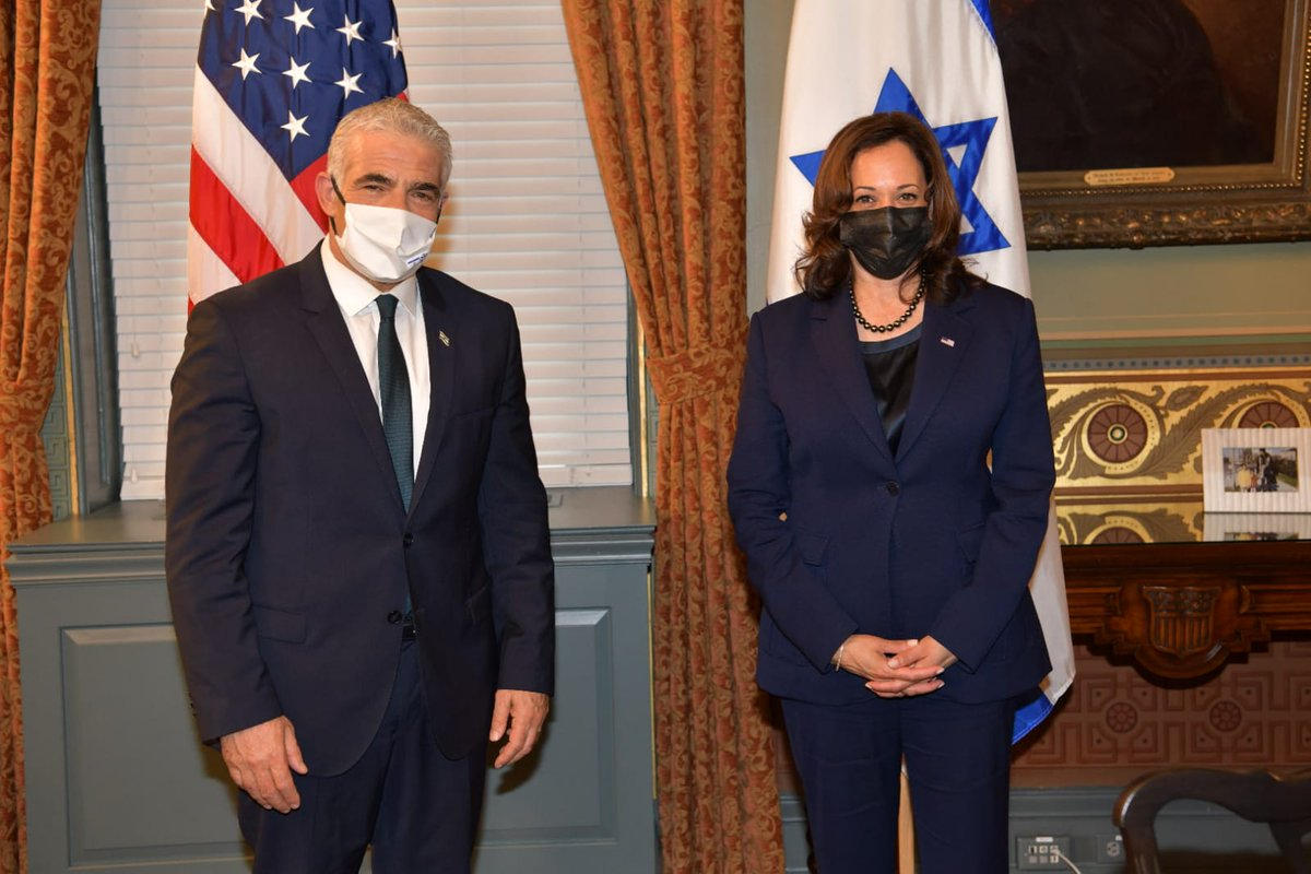 Some behind the scenes photos from what has been a very productive visit of FM @yairlapid to the United States so far. Follow us for additional updates from this important visit 🇮🇱🤝🇺🇸. 📸 Shlomi Amsalem, GPO