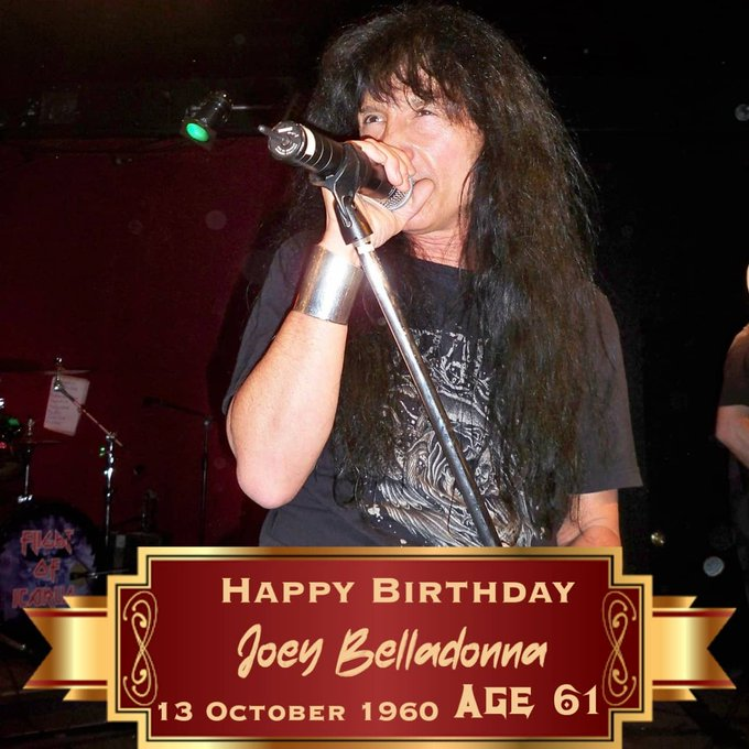 Happy to Mr Joey Belladonna From Anthrax (