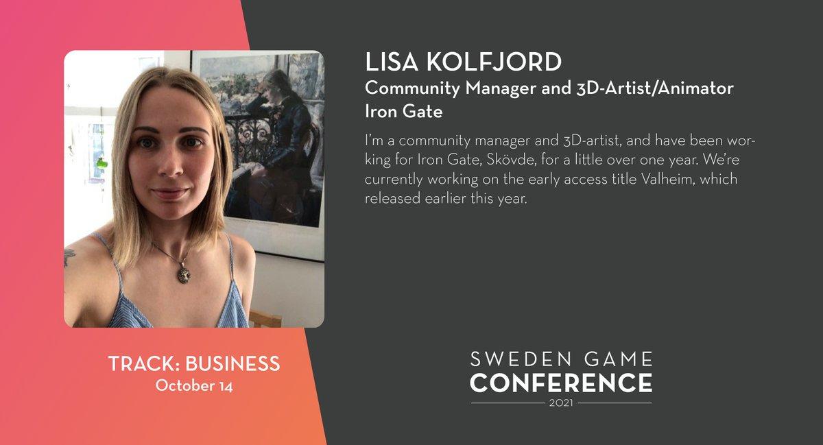 We welcome Lisa Kolfjord from Iron Gate as a panelist at Sweden Game Conference 2021! Read more about the speakers and panelists at Sweden Game Conference: https://t.co/kjIcYzUyja @Valheimgame @lisakolf https://t.co/pJoU0eYFkb