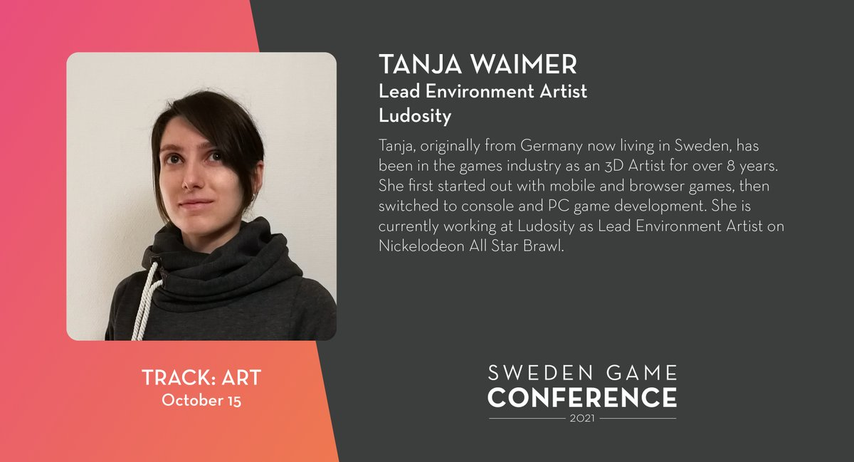 We welcome Tanja Waimer from @Ludosity as a panelist at Sweden Game Conference 2021! Read more about the speakers and panelists at Sweden Game Conference: https://t.co/kjIcYzCWUA https://t.co/LcUueNlM0m