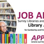 Image for the Tweet beginning: We are hiring! Surrey Libraries
