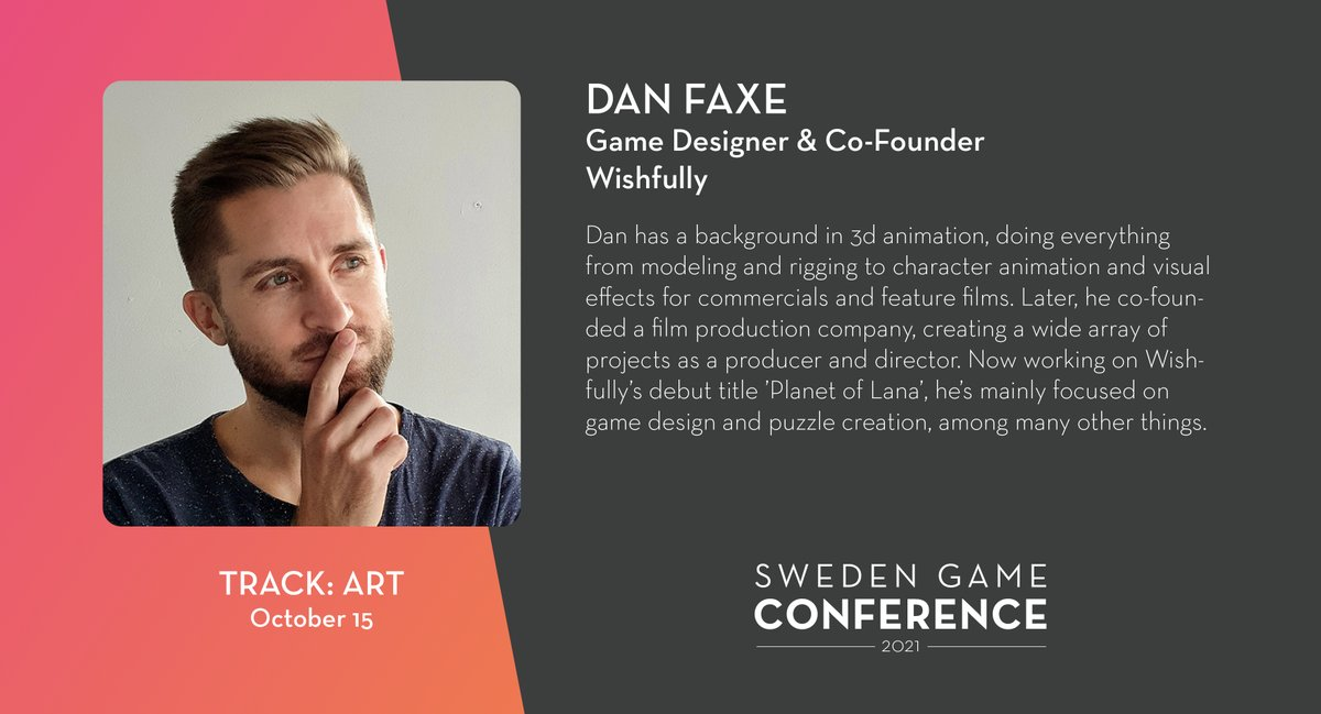 We welcome Dan Faxe from @Wishfully_Games as a panelist at Sweden Game Conference 2021! Read more about the speakers and panelists at Sweden Game Conference: https://t.co/kjIcYzUyja https://t.co/YxbDNeuD5r