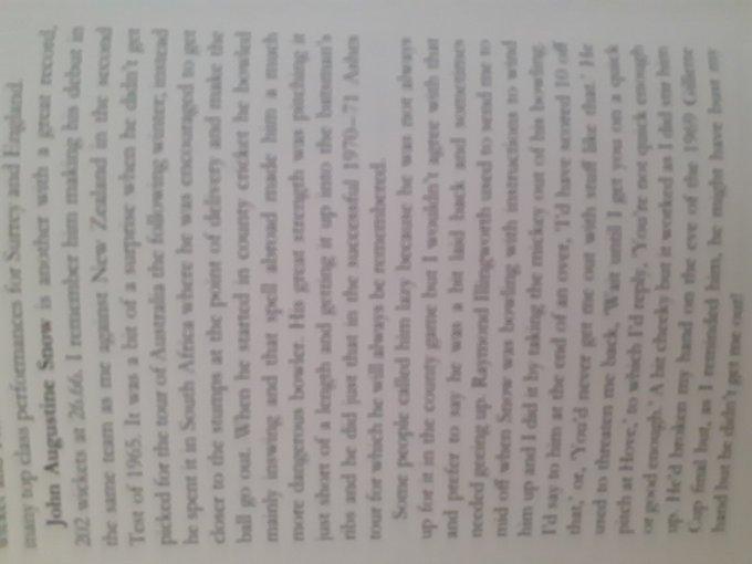 "Sir Geoffrey speaks fondly of John Snow in his book \""The Best XI\ Happy Birthday John Snow"