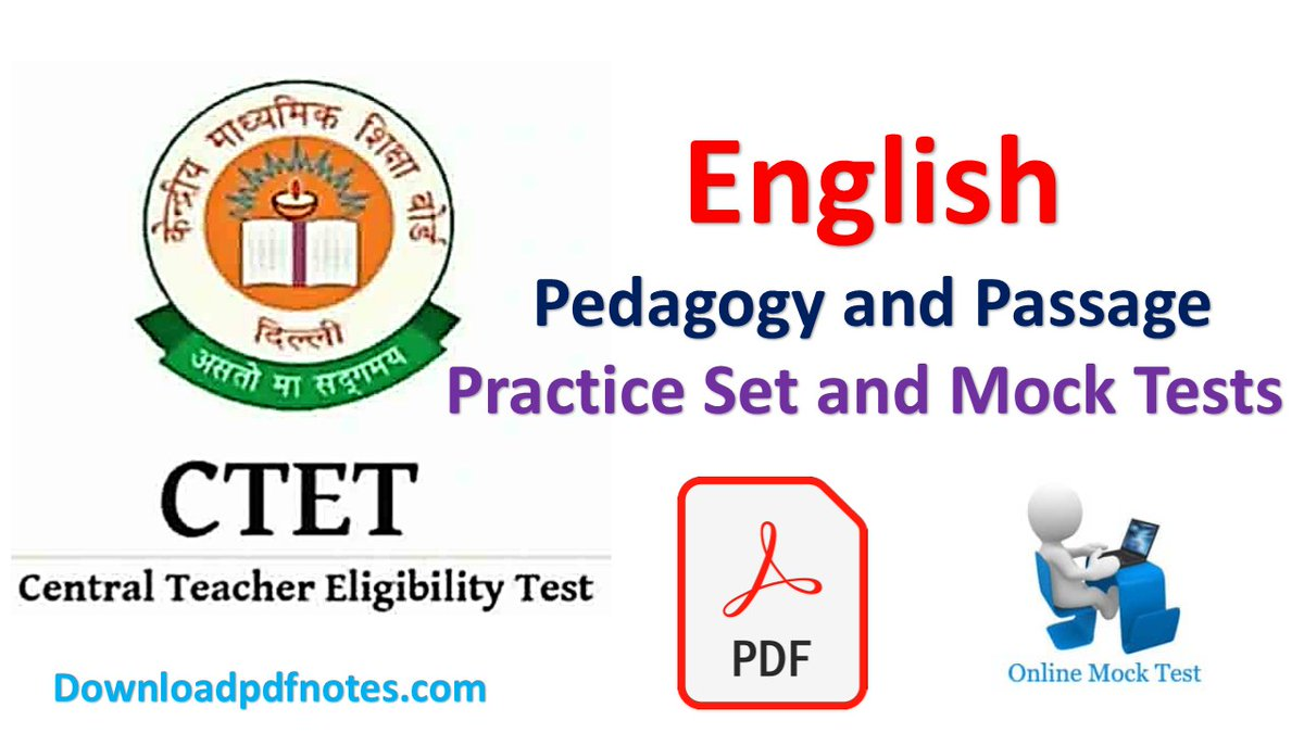 CTET English Notes: English Pedagogy and Passage Practice sets For CTET | Question Paper PDF