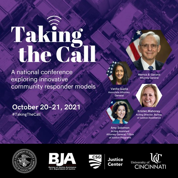 Taking the Call will bring people together from across the U.S. to delve into how jurisdictions are serving as laboratories for innovation to ensure that emergency calls receive the appropriate response.   Don't wait to sign up! https://t.co/2fdCgBMFCm