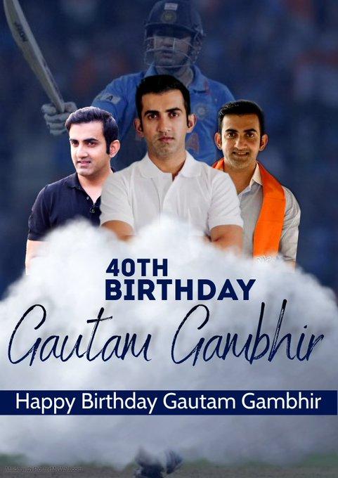 Many many return of the day Happy birthday to my favourite Cricketer and MP Shree gautam gambhir ji