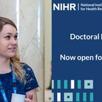 Image for the Tweet beginning: The NIHR Doctoral Fellowship is