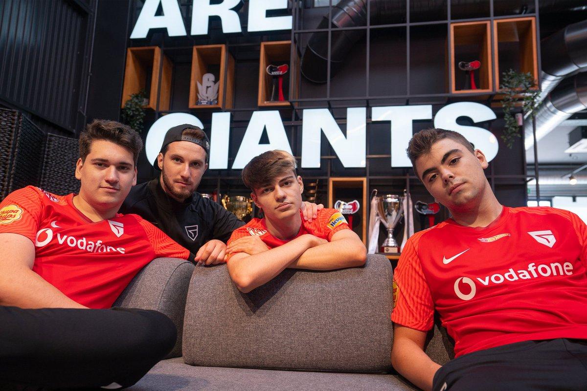 🚨 ALERTA DE DERBI 🚨 Nuestro primer rival en la nueva temporada de RLCS 2021-22 será @TeamQuesoGG. Nos vemos el viernes 😈 #WeAreGiants #VodafoneGiants