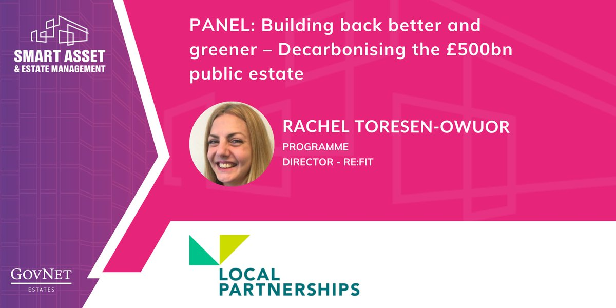 RT @GovSmartEstates Welcome, Rachel Toresen-Owuor from @LP_localgov to #SmartEstates21! Rachel will be discussing how to build back a greener and better public estate.   👉 Read the agenda: https://t.co/OrBHlELunQ   #NewSpeaker #PublicEstate #BuildBackBetter #Decarbonise #Retrofitting #NetZeroCarbon