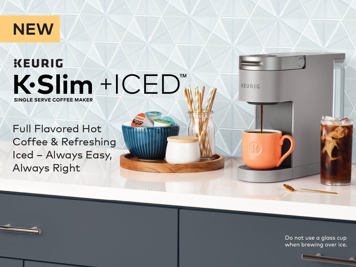 Introducing the new K-Slim + ICED™ brewer. Full-flavored hot coffee and refreshing iced – always easy, always right. Available now at @Target and krg.bz/3v79KN9. bit.ly/3ALlBln