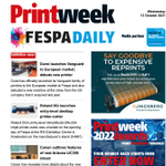 Image for the Tweet beginning: Our day two Fespa Daily
