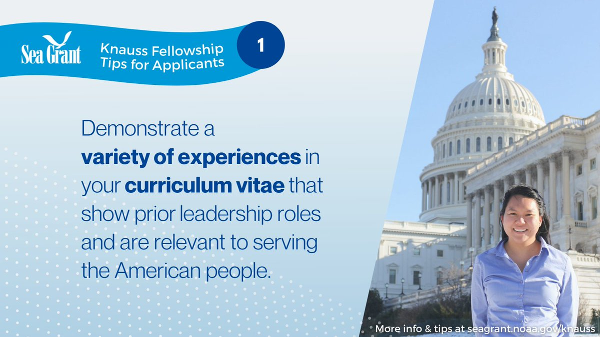 Great tips here for getting ready for the #Knauss Fellowship. Reminder - applications will come through individual programs, including us!