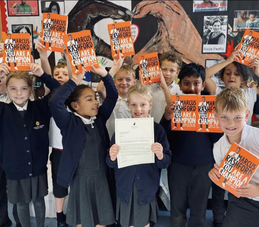@MarcusRashford We are absolutely loving your book! Ten copies added to our school library and so many excited children to read it! Thank you for inspiring them all. #youareachampion