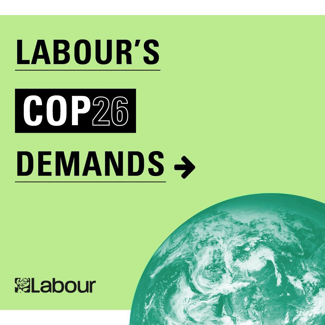 Today I set out how Boris Johnson and his government can make Cop26 in Glasgow the success it needs to be, even at this late stage. Read my full speech and support our key demands to Keep 1.5C alive 👇🏻 labour.org.uk/press/ed-milib…