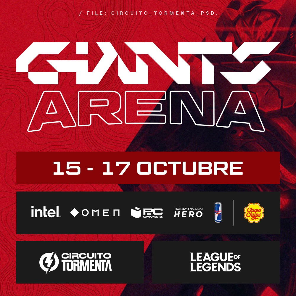 From the 15th-17th October, Giants together with @chupachups_esp are organizing a qualifier that will give you access to our tournament in Circuito tormenta (second division). Only 4 teams can make it. You can register in the link below. circuitotormenta.com/competition/to…
