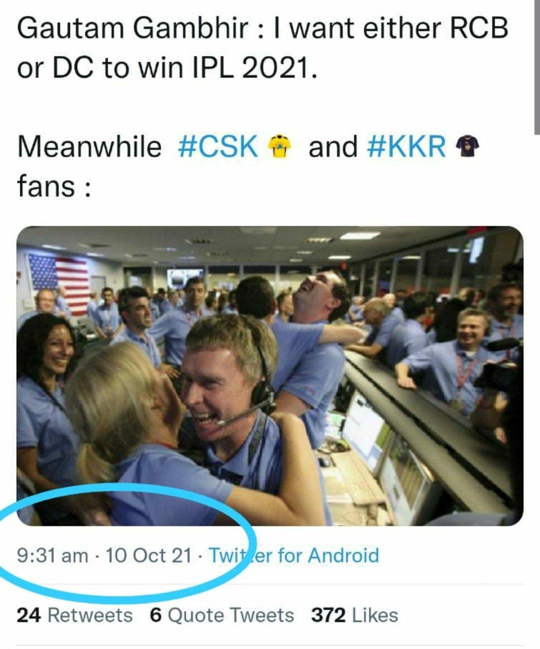 #DCvsKKR Twitter