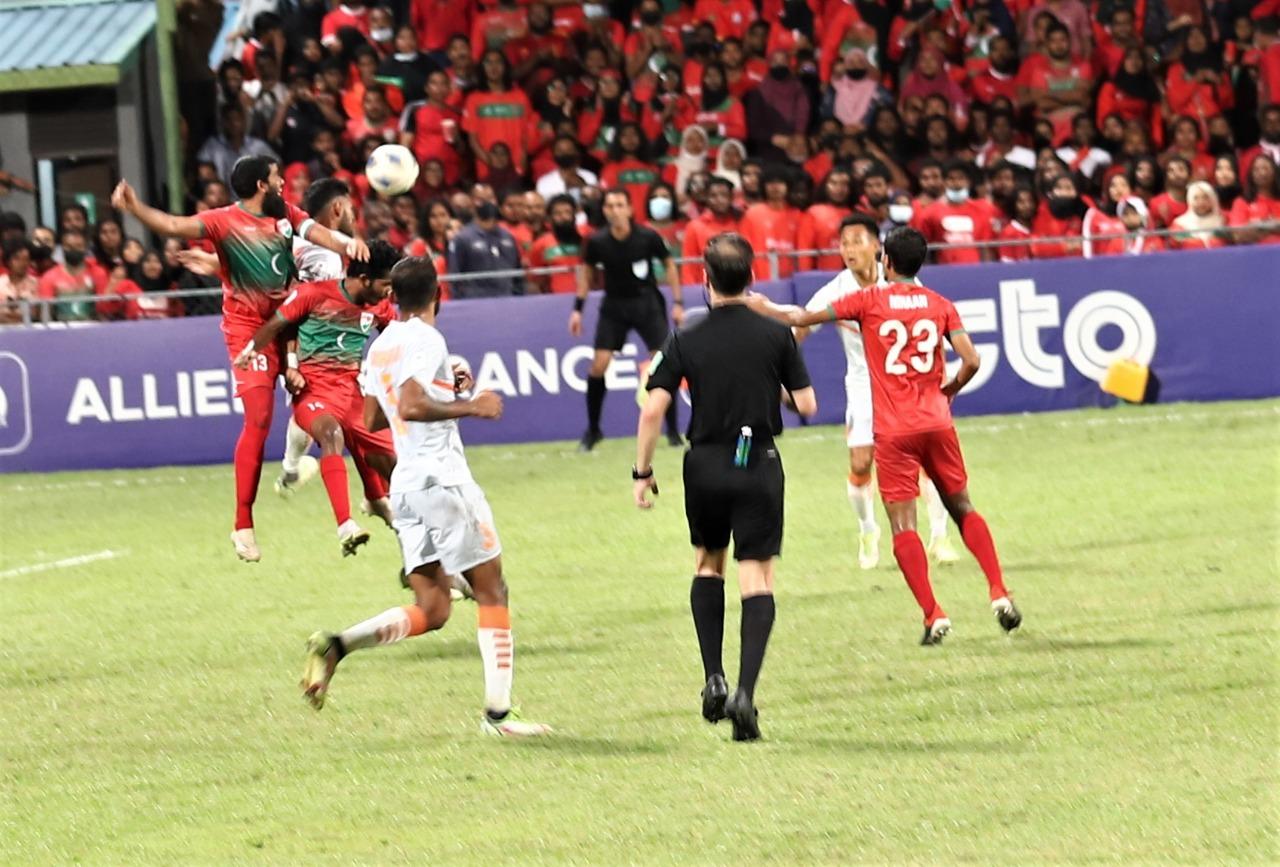 माले में सैफ चैम्पिनशिप में भारत ने मालदीव को हराकर फाइनल में प्रवेश किया