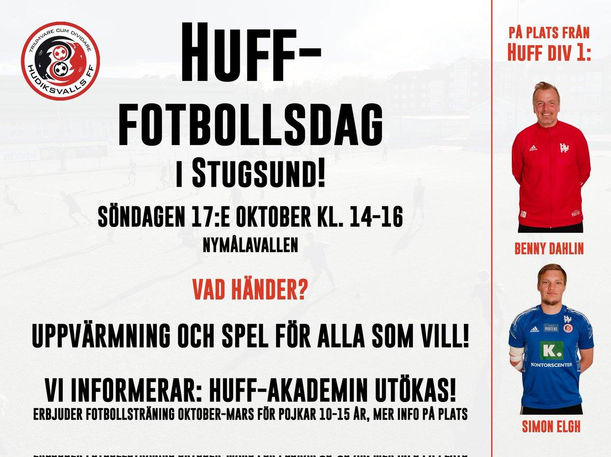 HuFF-fotbollsdag i Stugsund på söndag!  Vi ser fram emot en härlig fotbollsdag! Alla är välkomna för att samlas och spela fotboll tillsammans!  Läs mer och anmäl dig: https://t.co/7jr2MNyd09 https://t.co/FJK0HAPIst