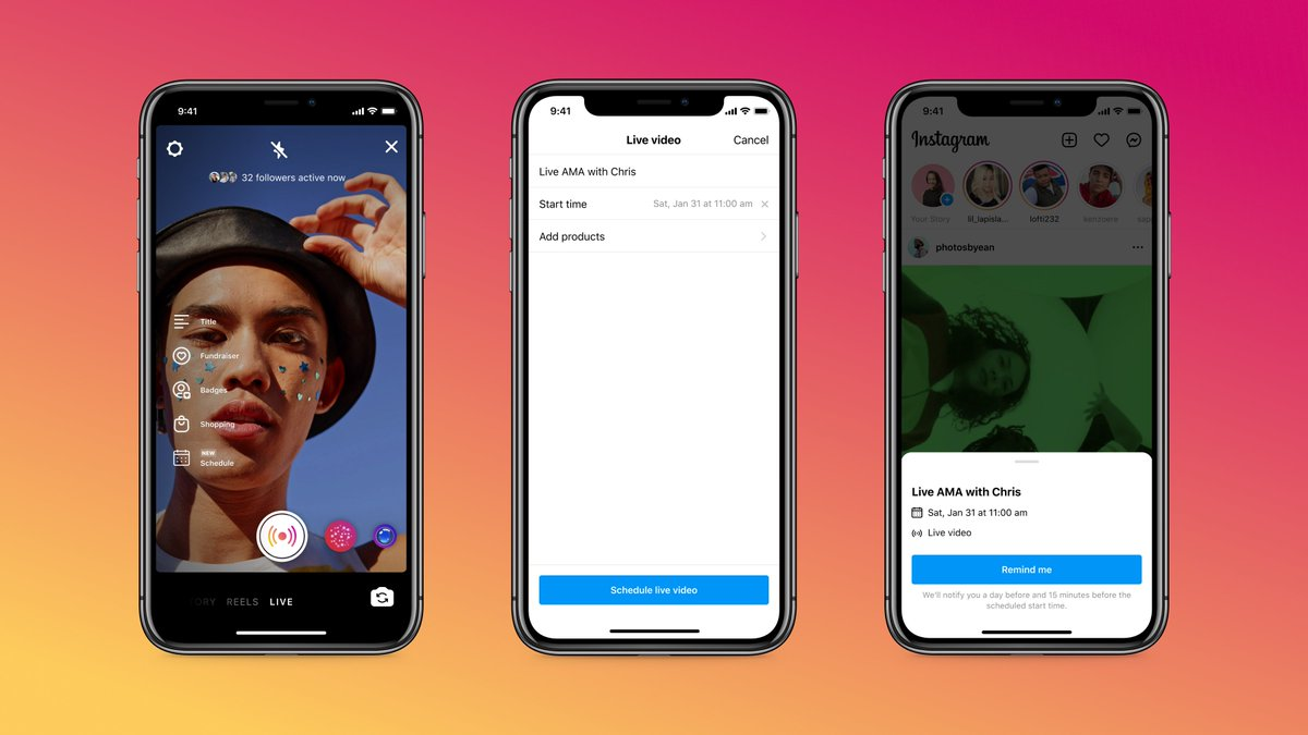 Going Live hits different when your followers come through 🙌 Live Scheduling lets you schedule your stream up to 90 days in advance and followers can set reminders to tune in ❤️🔔