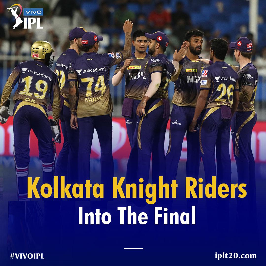 आईपीएल क्रिकेट में शारजाह में दूसरे क्वालिफायर मुकाबले में कोलकाता नाइट रायडर्स ने दिल्ली कैपिटल को हराकर फाइनल में जगह बनाई