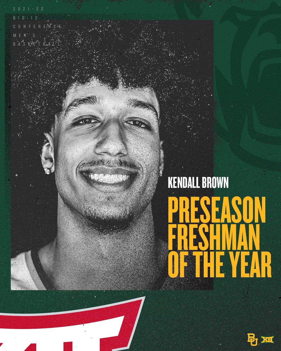 Baylor's @TheeKbrown named Preseason Big 12 Freshman of the Year - baylorbears.com/news/2021/10/1…  #SicEm   #CultureofJOY 🏀
