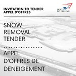 Image for the Tweet beginning: INVITATION TO TENDER - SNOW