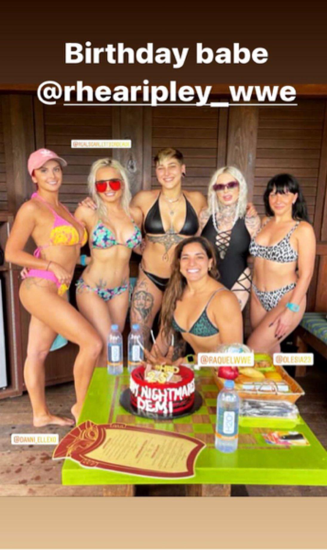 Photos: Rhea Ripley Celebrates 25th Birthday In Bikini With WWE Colleagues 3