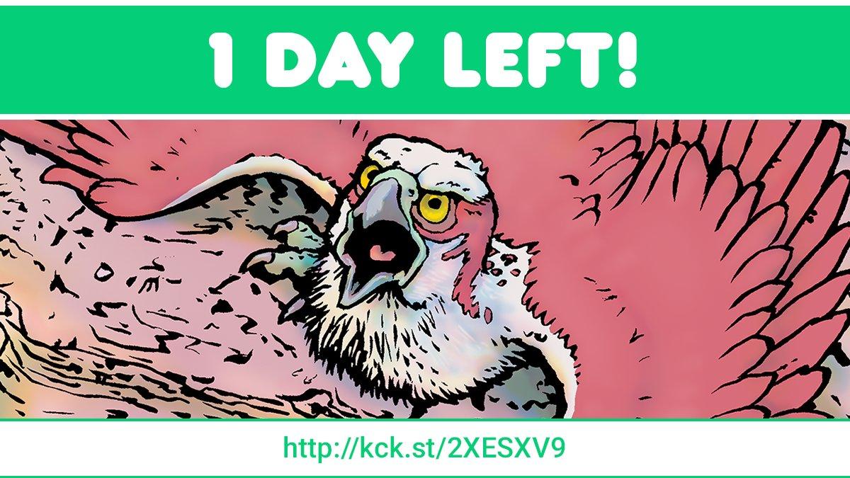 ONE DAY LEFT to back PALEOCENE #3!  #paleoart #comic #comics #paleontology #PALEOctober