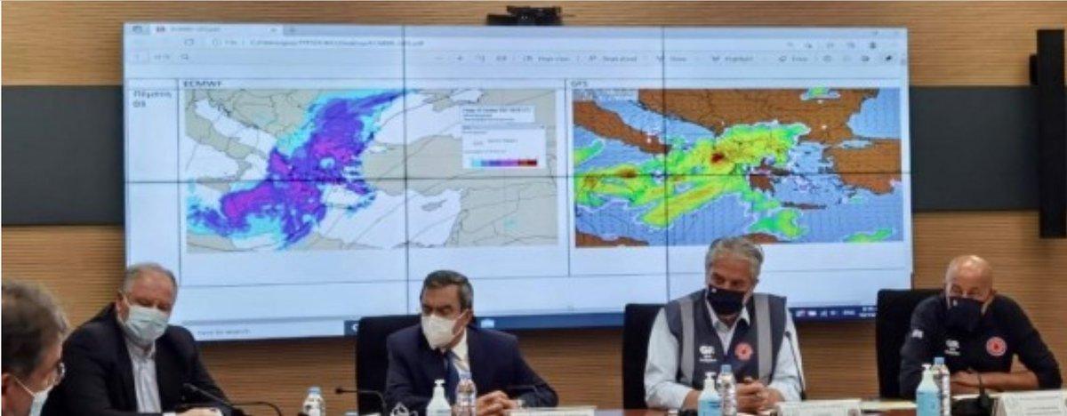 Στη σύσκεψη που πραγματοποιήθηκε σήμερα υπό τον Υπουργό Κλιματικής Κρίσης και Πολιτικής Προστασίας, κ. @StylianidesEU, παρέστη η #ΕΜΥ και αναλύθηκαν τα προγνωστικά δεδομένα για την επερχόμενη κακοκαιρία @EMY_HNMS @GSCP_GR civilprotection.gr/el/simantika-t…