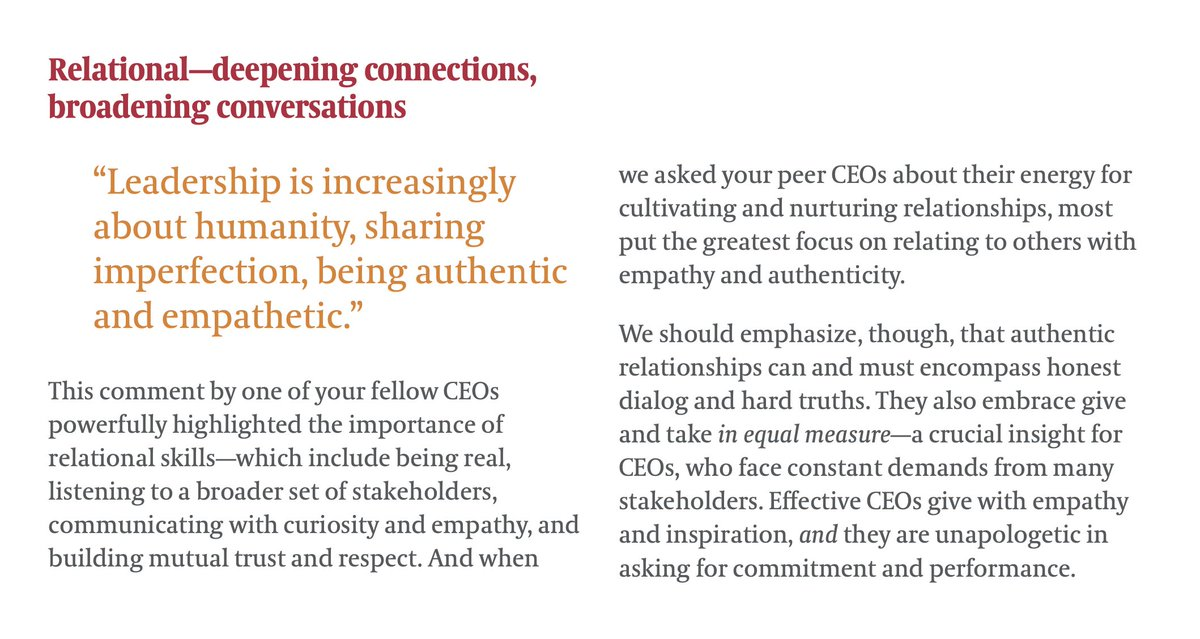 """⬇️✅👍 """"Leadership is increasingly about humanity, sharing imperfection, being authentic and empathetic.""""         — @EgonZehnder"""