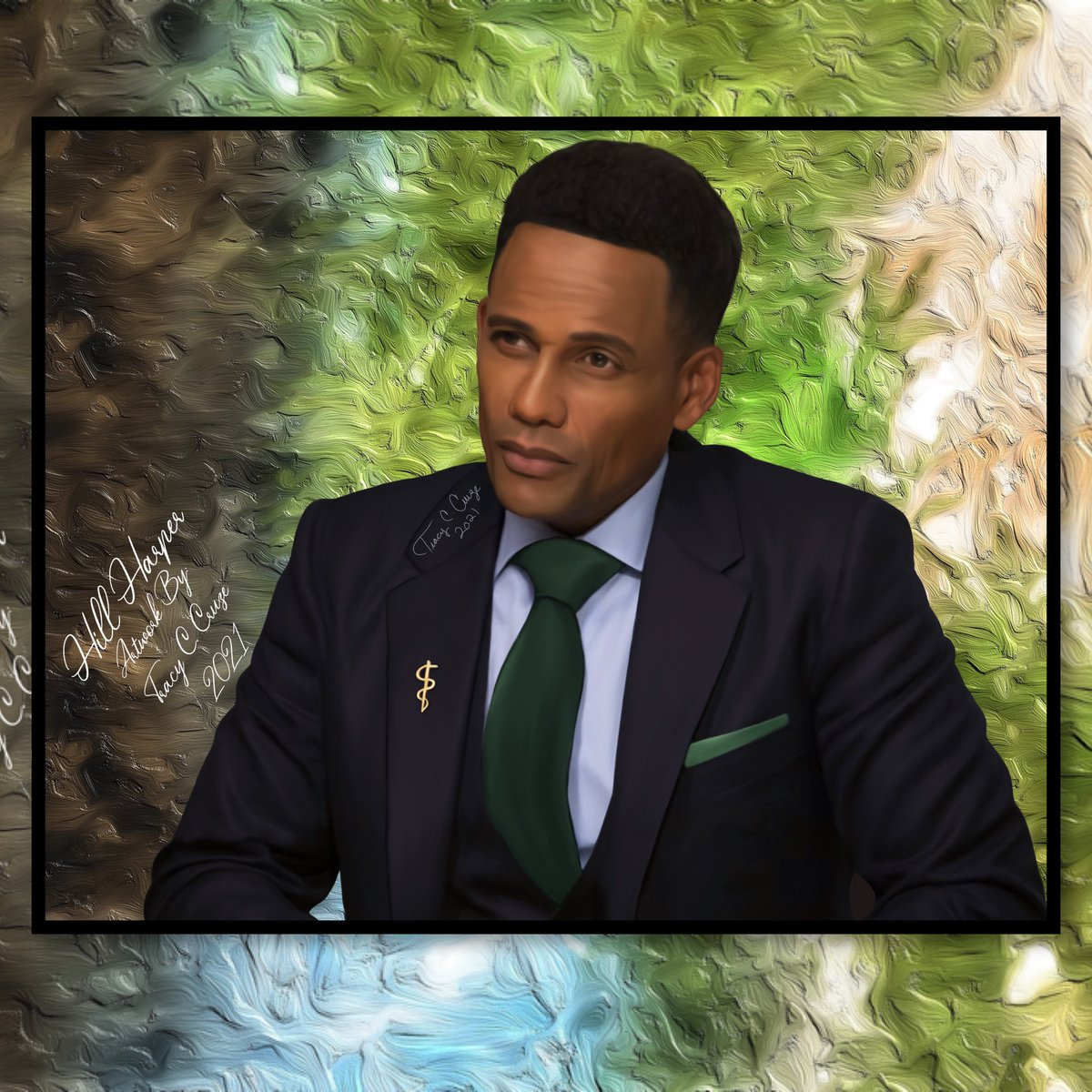 My newest #digital #painting of the suave @hillharper who one just has to love as the smooth Dr. Marcus Andrews! And since we have to wait 2 weeks for a new episode, it's time for a little Good Doctor ❤️! #TheGoodDoctor #drmarcusandrews #paintings #drawings #marcusandrews