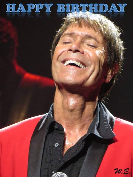 HAPPY BIRTHDAY SIR CLIFF RICHARD  GOD BLESS YOU  MY ALL TIME FAVOURITE SINGER.