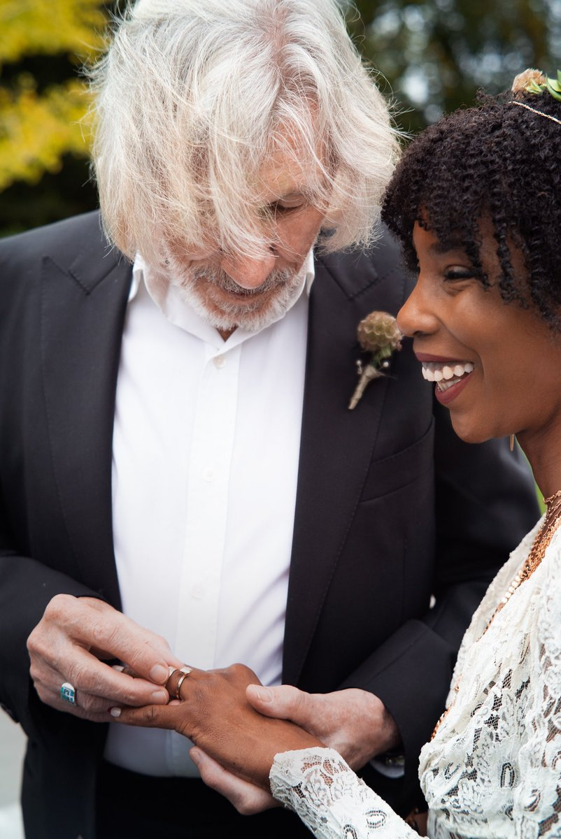 Wishing Roger Waters and Kamilah Chavis years of happiness and contentment in their marriage. Congratulations.