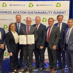 Business Aviation is renewing and strengthening its record on addressing climate change with an aggressive commitment of net-zero carbon emissions by 2050.  https://t.co/4FHeye8teD