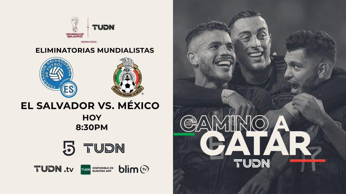 ¡Hoy juega nuestra Selección Mexicana!…Sigue su camino al Mundial de Catar 2022, acompaña a nuestros expertos seleccionados para el partido El Salvador vs México a las 8:30pm por @MiCanal5 @TUDNMEX @micanalcinco. Utiliza el #LaCasaSeRespeta y únete a la conversación.