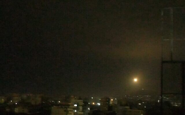 Israeli planes said to strike in central Syria, killing 1, injuring three others